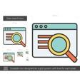 Data search line icon vector image vector image