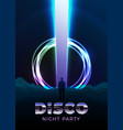 disco poster design template in 80s retro vector image vector image