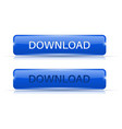 download blue buttons normal and active vector image