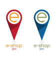 e shop location flat design vector image vector image
