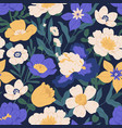 elegant seamless floral pattern with irises vector image
