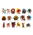 fantasy creatures and humans orc warrior vector image vector image