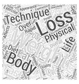Fast Weight Loss Word Cloud Concept vector image vector image