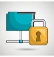 files data padlock icon vector image