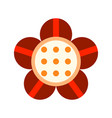 Flat icon of a flower colored object on a white