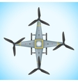 Flat quadcopter drone