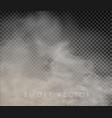 fog and smoke isolated on transparent vector image vector image