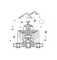 fountain at place de la concord landmark paris vector image