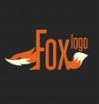 fox logo text vector image vector image