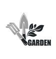 gardening tools icon for gardener shop vector image vector image