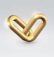 Golden chain links