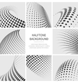 Halftone dots abstract shapes set vector image vector image