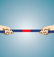 Hands Pulling On Rope vector image vector image