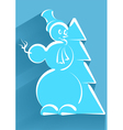 icon of snowman vector image vector image