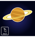 icons with Saturn and astrology symbol of planet f vector image vector image