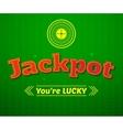 Jackpot logo game vector image vector image