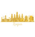 kanpur india city skyline golden silhouette vector image vector image