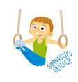 kinds of sports athlete gymnastics artistic vector image