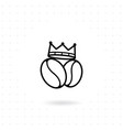 king coffee icon vector image vector image