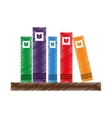 library Book shelf isolated icon vector image
