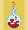 love science tube vector image vector image