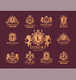 luxury boutique royal crest high quality vintage vector image vector image
