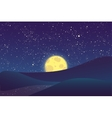 Night moon shining stars on blue sky vector image