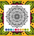 oriental flower mandala antistress adults vector image vector image