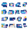 people apps icon set vector image vector image