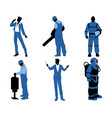 people different professions vector image vector image