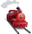Red locomotive vector image vector image