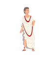 roman philosopher in traditional clothes ancient vector image vector image