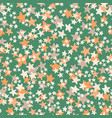 seamless pattern with white orange beige vector image vector image