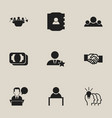 set of 9 editable trade icons includes symbols vector image vector image