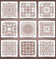 Set of elegant floral monogram design templates vector image