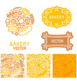 set of logo design elements with icons vector image vector image