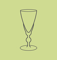 Sherry vermouth glass vector image vector image