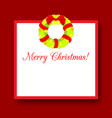 simple christmas frame decorated with wreath new vector image