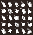 Tag icons set retail theme simplistic symbols col vector image vector image