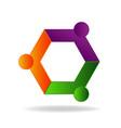 teamwork friendship business logo design vector image vector image