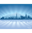 Tokyo Japan city skyline silhouette vector image vector image