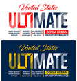 ultimate typography design t shirt print vector image vector image