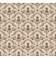vintage wallpaper pattern vector image vector image