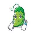 waiting peas mascot cartoon style vector image vector image