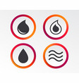 water drop icons tear or oil symbols vector image vector image
