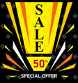 web sale banner sale discount up to 50 vector image vector image