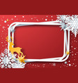 winter frame with snowflakes and reindeer vector image