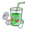 with megaphone green smoothie character cartoon vector image vector image