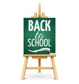 wood chalk easel or school board with chalk back vector image vector image