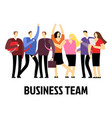 working people cartoon characters business vector image vector image